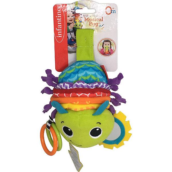 Купить Музыкальная игрушка Infantino Гусеничка, Infantino BKids, Китай, зеленый, Унисекс
