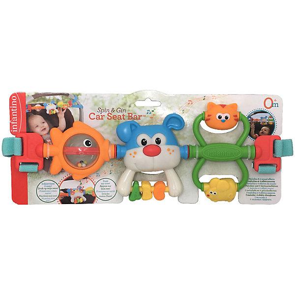 Купить Игрушка-подвеска Infantino Крути и хватай, Infantino BKids, Китай, оранжевый, Унисекс