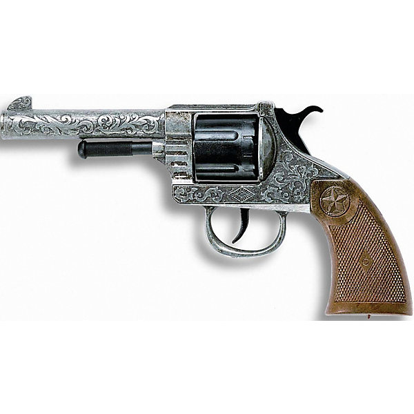 Edison Пистолет Edison Oregon Metall Western, 21,5 см пистолет edison с мишенями и пульками western line west colt 28 см пульки