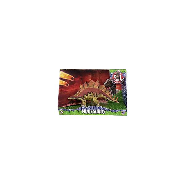 Купить Игровая фигурка HTI Dino World Стегозавр, 16 см, Китай, коричневый, Унисекс