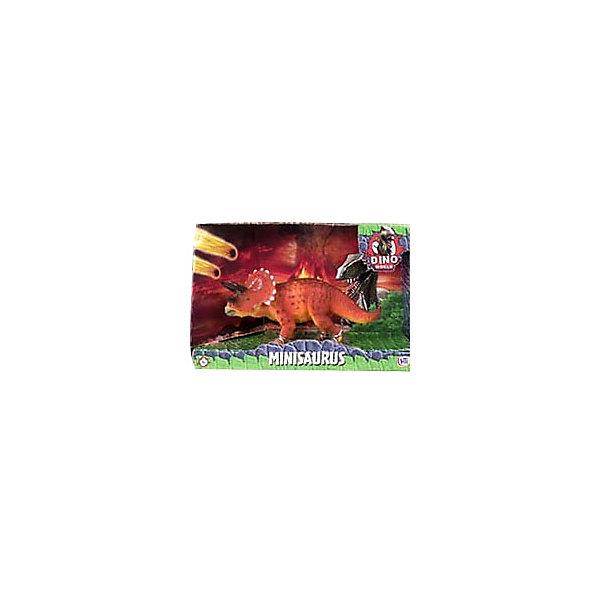 Купить Игровая фигурка HTI Dino World Трицератопс, 16 см, Китай, коричневый, Унисекс