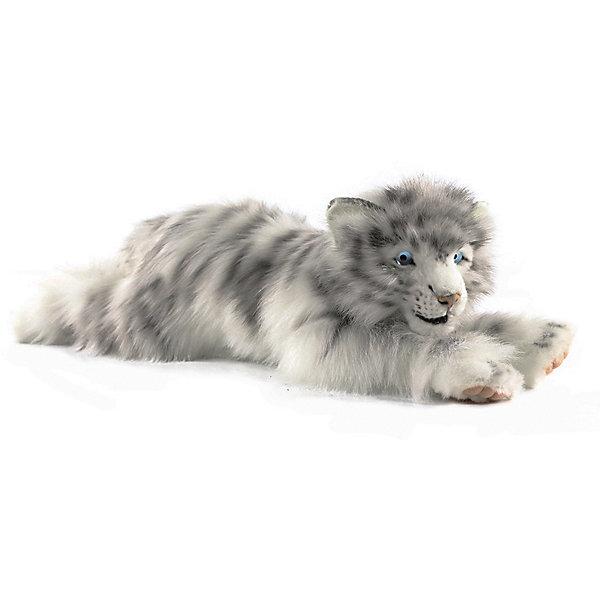 цена на Hansa Мягкая игрушка Hansa Детеныш белого тигра лежащий