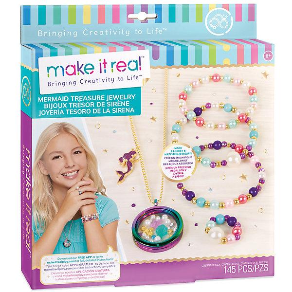 Купить Набор для создания украшений Make It Real Сокровища русалки , 145 деталей, -, Китай, разноцветный, Женский