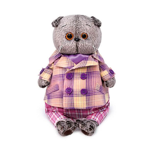 Фото - Budi Basa Басик Мягкая игрушка Budi Basa Кот Басик в пиджаке в сиреневую клетку, 19 см кот в пиджаке