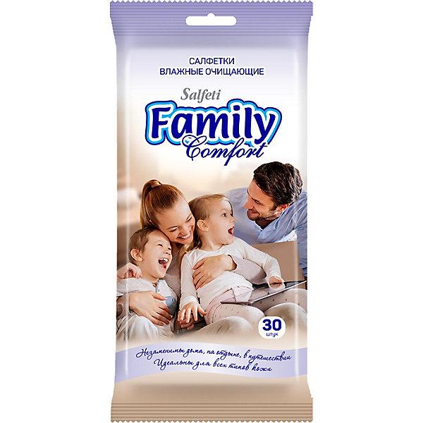Влажные салфетки Salfeti Family №30