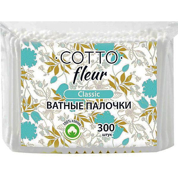 Cotto Ватные палочки Cotto Fleur classic, 300 шт
