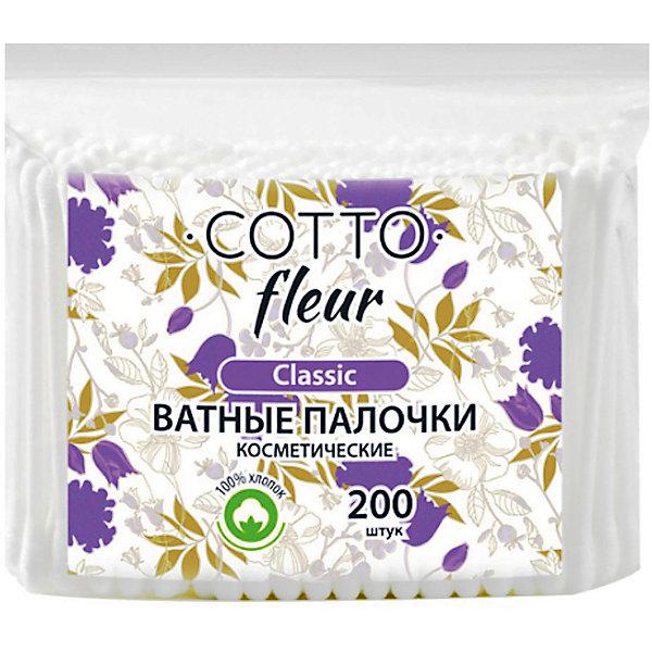 Cotto Ватные палочки Cotto Fleur classic, 200 шт