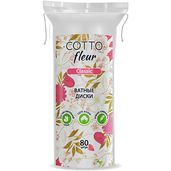 Ватные диски Cotto Fleur classic, 80 шт