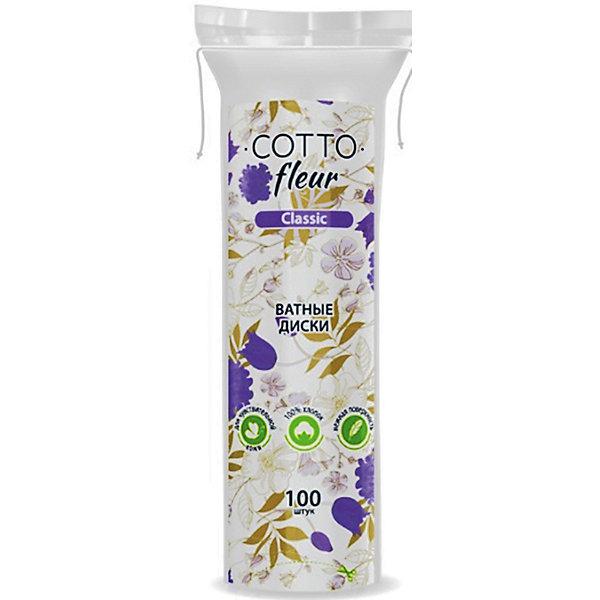 Ватные диски Cotto Fleur classic, 100 шт