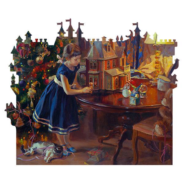 Купить Деревянный пазл DaVici Кукольный домик , 240 элементов, Россия, Унисекс