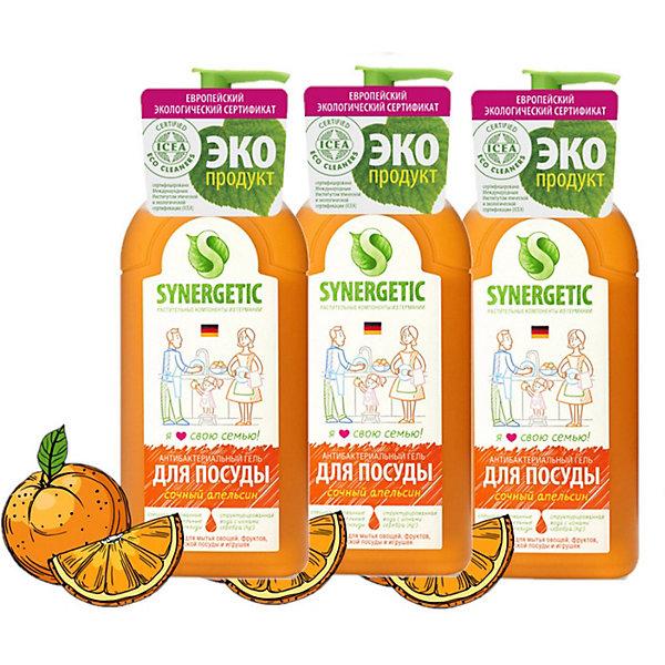 Средство для мытья посуды Synergetic Сочный апельсин, 3 шт х 500 мл