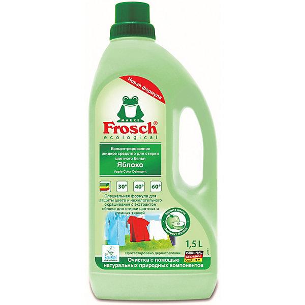 Купить Жидкое средство для стирки Frosch Яблоко для цветного белья, 1, 5 л, Германия, Унисекс