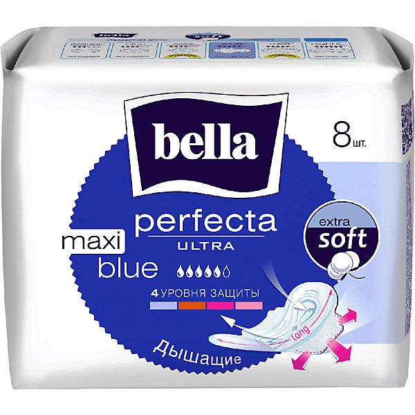 Прокладки Bella Perfecta Ultra Maxi Blue супертонкие, 8 шт, new