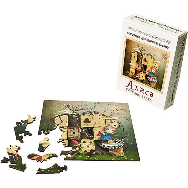 Нескучные игры Фигурные деревянные пазлы Нескучные игры Алиса в стране чудес пазл нескучные игры кошки 8067 45