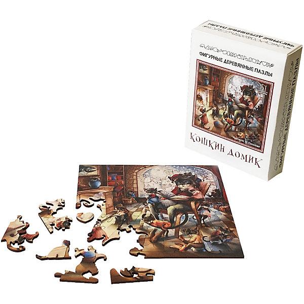 Нескучные игры Фигурные деревянные пазлы Нескучные игры Кошкин Дом пазл нескучные игры кошки 8067 45