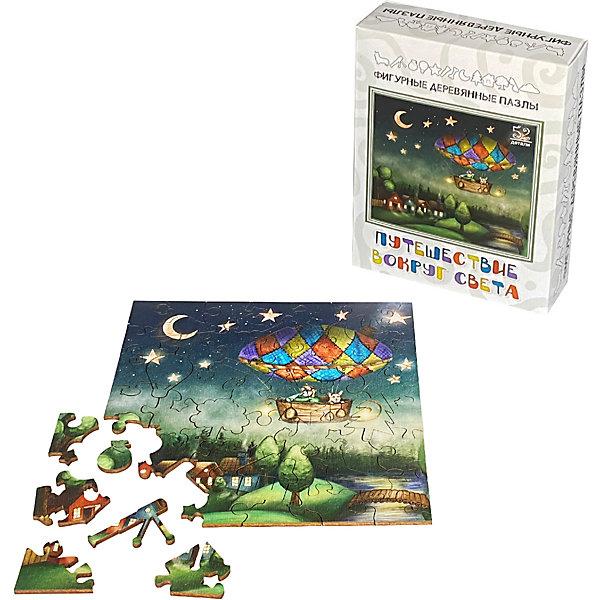 Нескучные игры Фигурные деревянные пазлы Нескучные игры Путешествие вокруг света пазл нескучные игры кошки 8067 45
