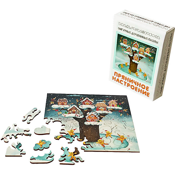 Нескучные игры Фигурные деревянные пазлы Нескучные игры Пряничное настроение пазл нескучные игры кошки 8067 45