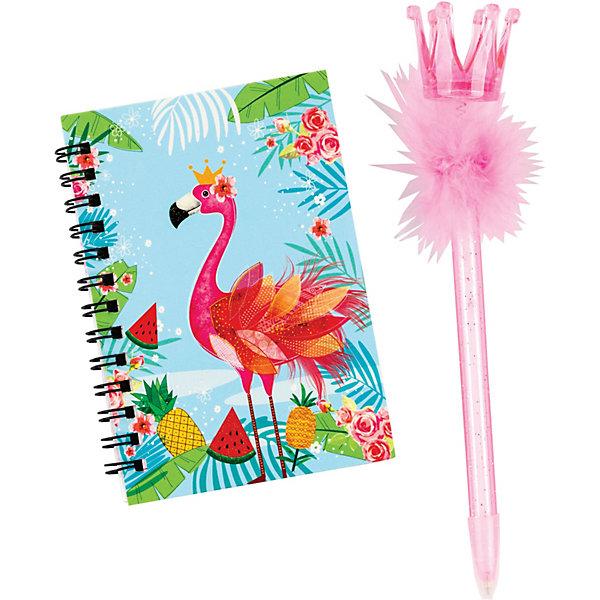 цена на CENTRUM Блокнот с ручкой Centrum Flamingo, 12х8 см