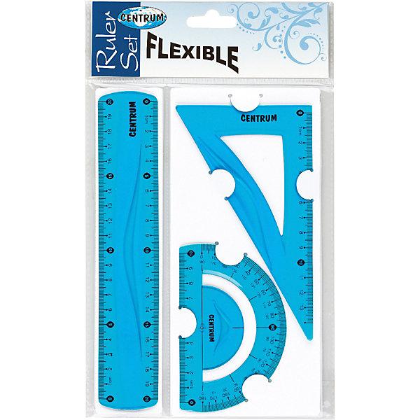 CENTRUM Набор линеек Centrum Flexible, 3 шт набор линеек characters в ассортименте