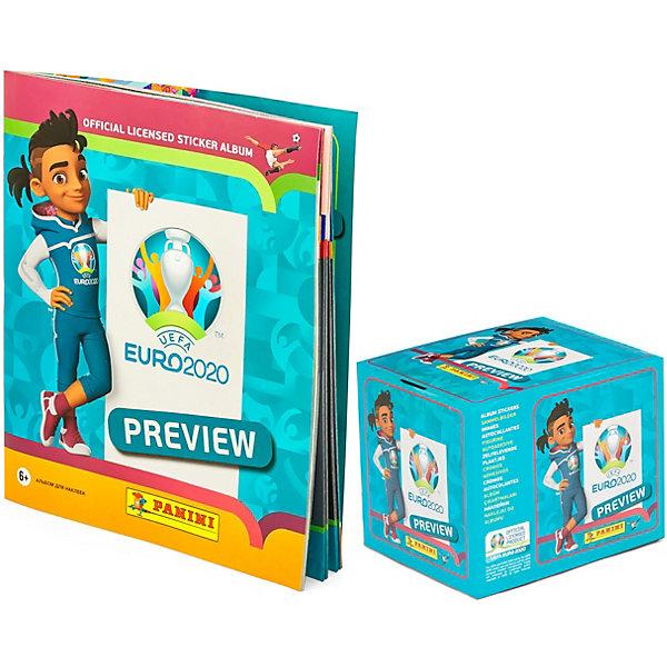 Фото - Panini Альбом и бокс с наклейками Panini EURO 2020 PREVIEW, 36 пакетиков детские наклейки panini подарочная упаковка euro 2020 и 2 пакетика карточек
