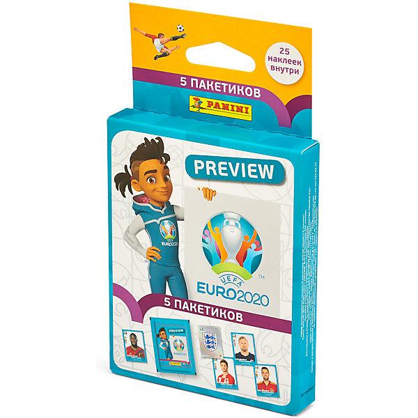 Фото - Panini Блистер с наклейками Panini EURO 2020 PREVIEW, 5 пакетиков panini альбом panini fifa 365 2019 и блистер 5 пакетиков с наклейками