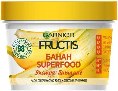 Garnier Маска для волос Garnier Fructis Superfood Банан, 390 мл chi luxury black seed oil curl defining cream gel