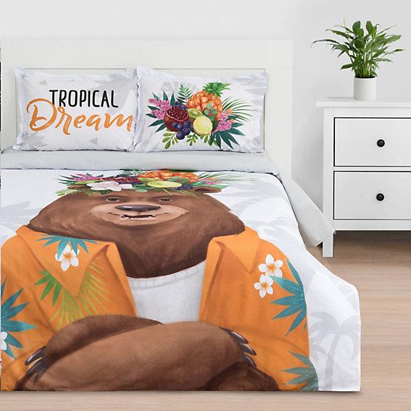 цена - Комплект постельного белья Этель Tropical dream, евро онлайн в 2017 году