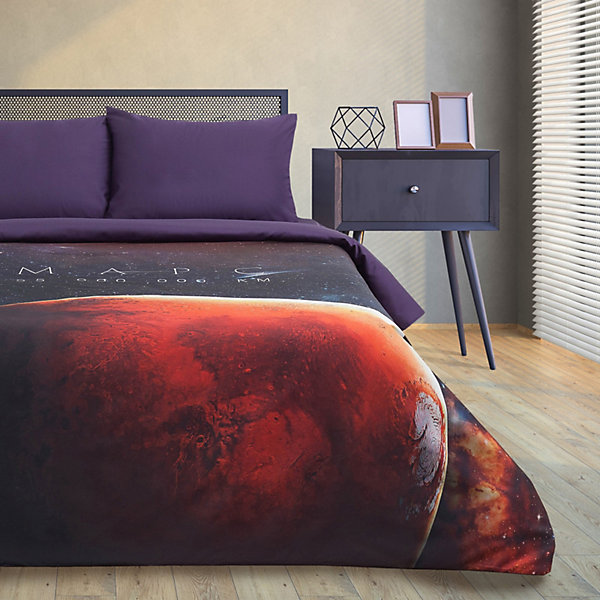 Этель Комплект постельного белья Этель Red planet, 2-спальное этель комплект постельного белья этель млечный путь 1 5 спальное