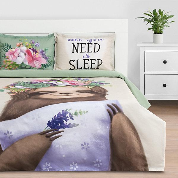 цена Этель Комплект постельного белья Этель Need is sleep, евро онлайн в 2017 году