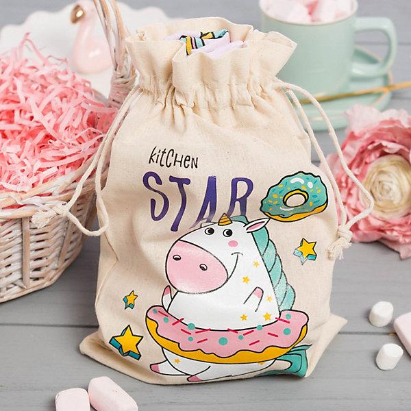 Купить Набор для выпечки Этель Kitchen star, в мешочке, -, Россия, розовый, Унисекс