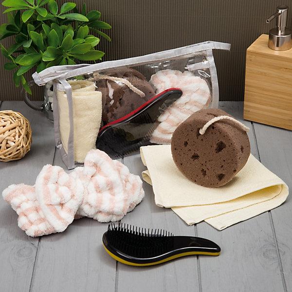 Экономь и Я Набор для бани и сауны Экономь и Я, в косметичке, 4 предмета ароматизатор для бани и сауны антистресс 100 мл