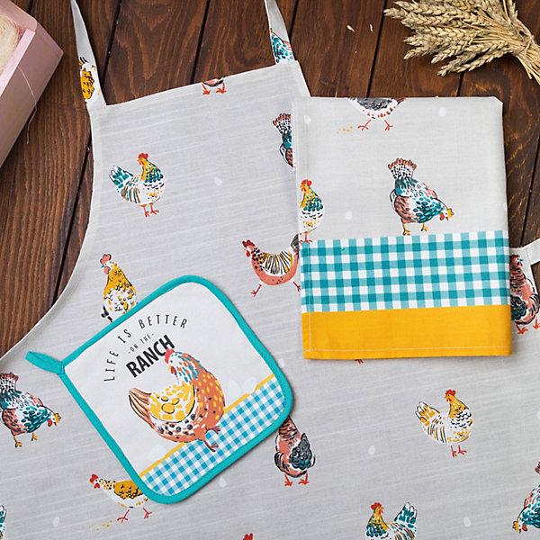 Этель Подарочный набор Этель Chicken Ranch, 3 предмета