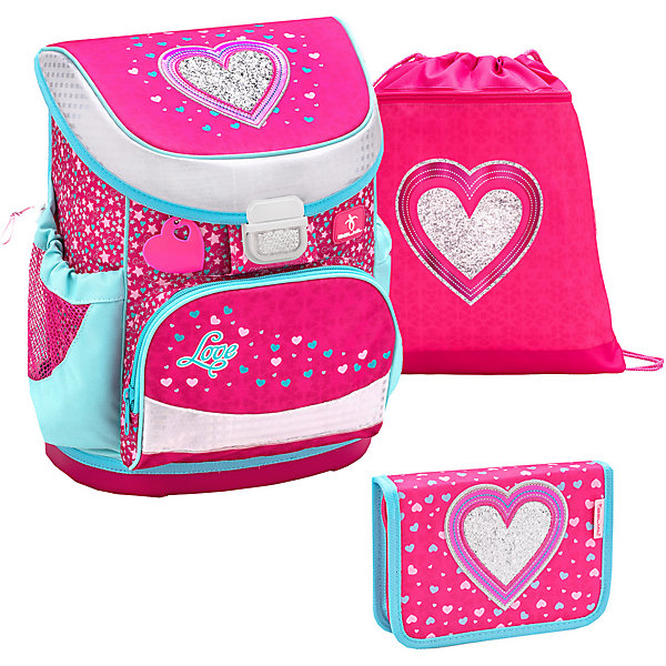 Фото - Belmil Ранец Belmil Mini-Fit Heart, с наполнением belmil ранец mini fit dream