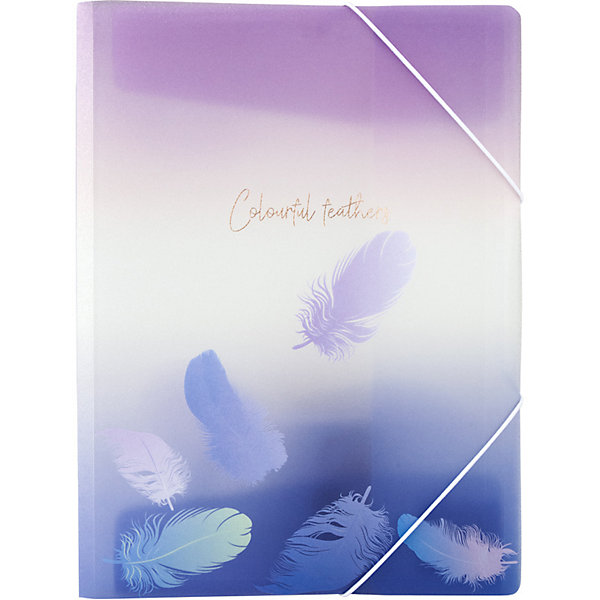 Папка на резинках Axent Colourful Feather 03, А4