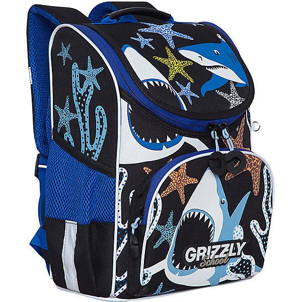 Купить Рюкзак школьный Grizzly с мешком для обуви, Россия, Мужской