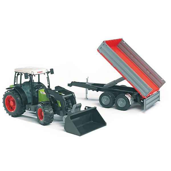 Трактор Claas Nectis с погрузчиком и прицепом, Bruder
