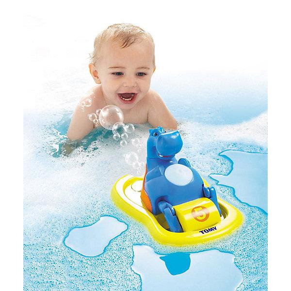 TOMY Игрушка для ванной «Бегемотик на катамаране», TOMY игрушка для ванной tomy водный дракон то72356