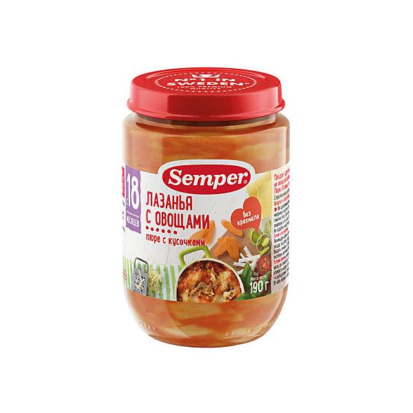 Пюре Semper лазанья с овощами с 18 мес, 12 шт х 190 г   16041759
