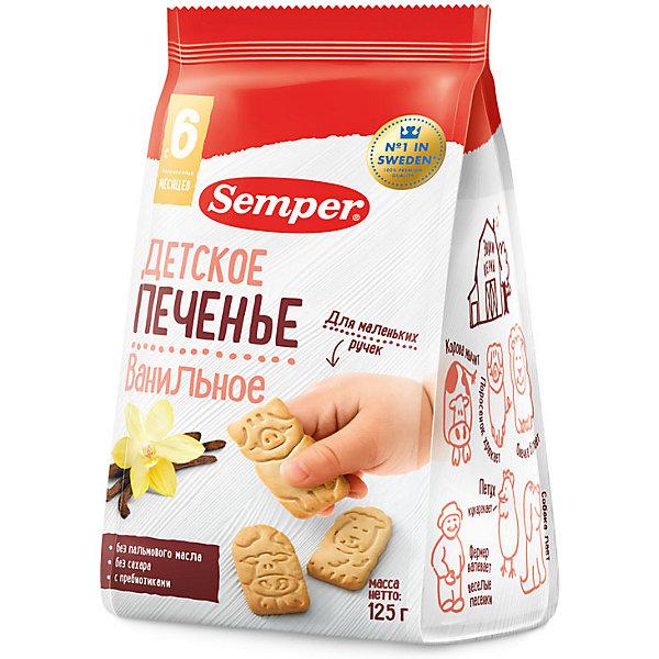 Детское печенье Semper NaturBalance ванильное, с 6 мес