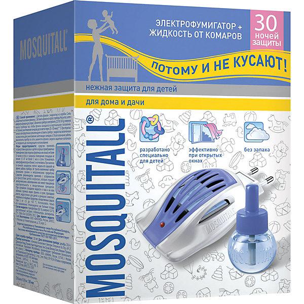 ЭлектрофумигаторMosquitallНежнаязащита с жидкостью от комаров 30 ночей, 30 мл для детей