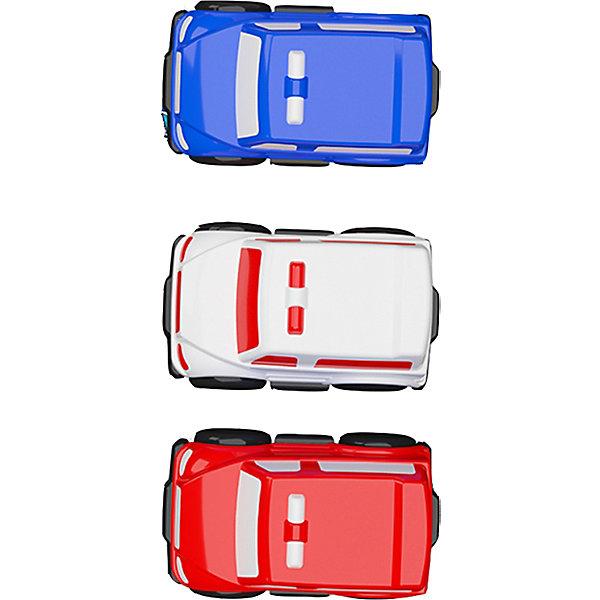 Купить Набор из 3 машинок Город 10 см, Terides, Турция, разноцветный, Мужской