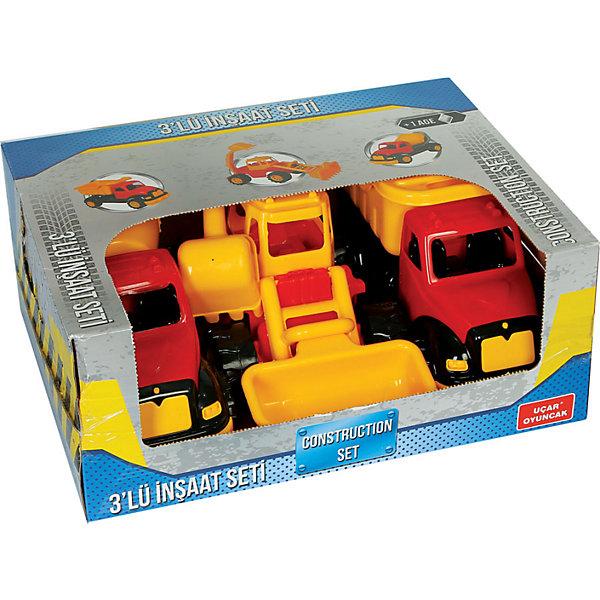 Набор машинок Terides Строительная техника, 3 шт разноцветный  16076041