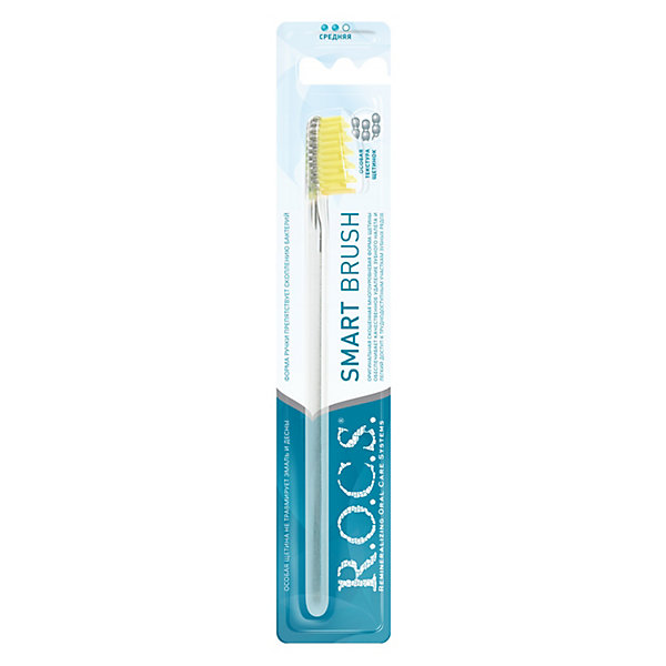 Зубная щётка R.O.C.S. Модельная средняя, Россия, Унисекс  - купить со скидкой