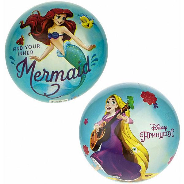 Мяч 1Toy Disney Принцессы Бэль и Золушка, диаметр 23 см разноцветного цвета