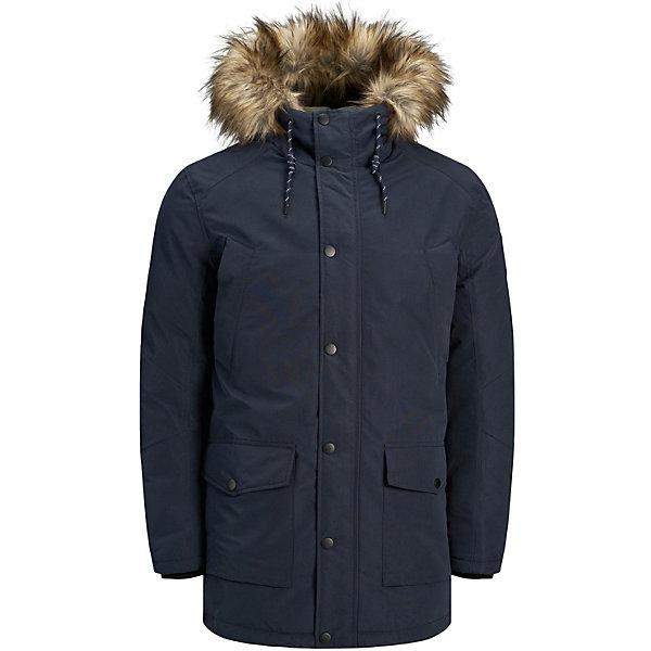 Купить Утеплённая куртка Jack & Jones Junior, Китай, темно-синий, 140, 164, 176, 152, 128, Мужской