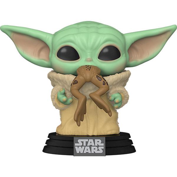Funko Фигурка Funko POP! Bobble: Star Wars: Mandalorian: Малыш Йода с лягушкой, 49932