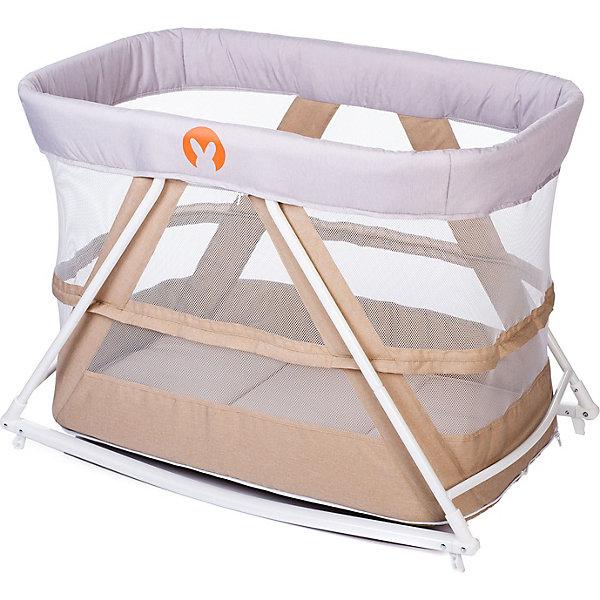 Baby Hit Кровать-колыбель Baby Hit Rocking Crib, бежевая
