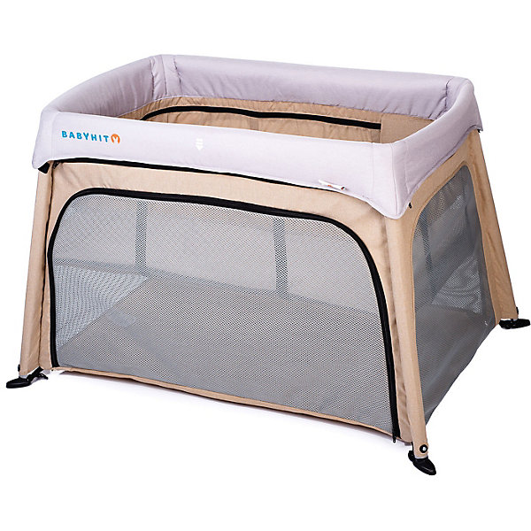 Купить Кровать-манеж Baby Hit Dream & Play, бежевая, Китай, бежевый, Унисекс