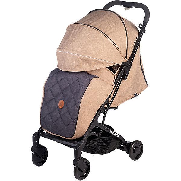 Baby Hit Прогулочная коляска Acarento Provetto, бежевая с серым прогулочная коляска acarento provetto серый