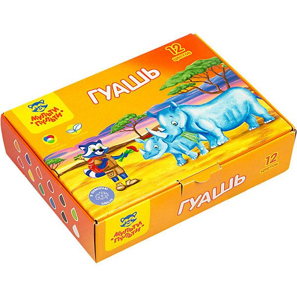 Купить Гуашь Мульти-Пульти Енот в Африке, 12 цветов, Россия, разноцветный, Унисекс